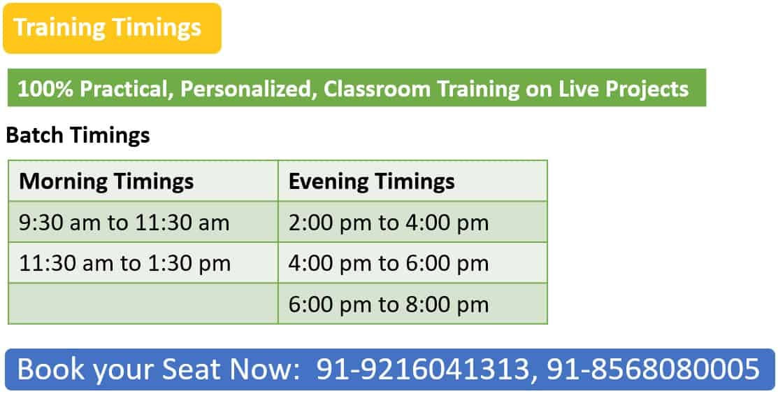 Training Timings