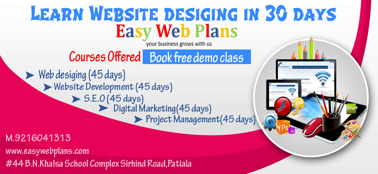 Website Design Course in Patiala