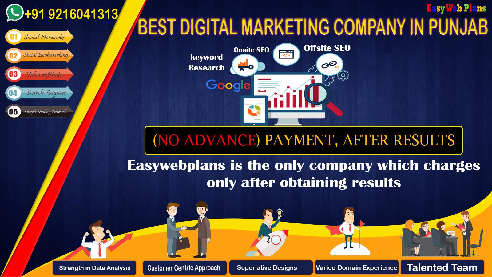 Digital Marketing Company in Punjab | Contact us at +91-9216041313