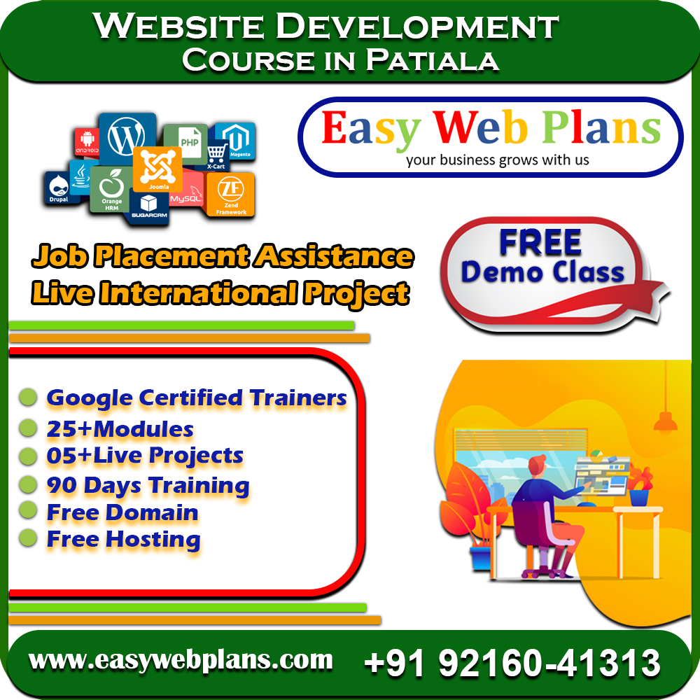 Web Development Course in Patiala, Punjab