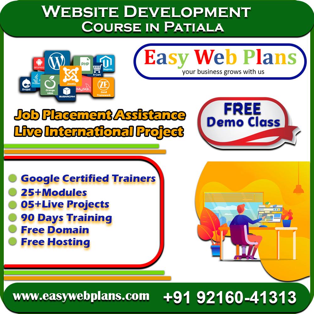 Web Development Course in Patiala, Punjab
