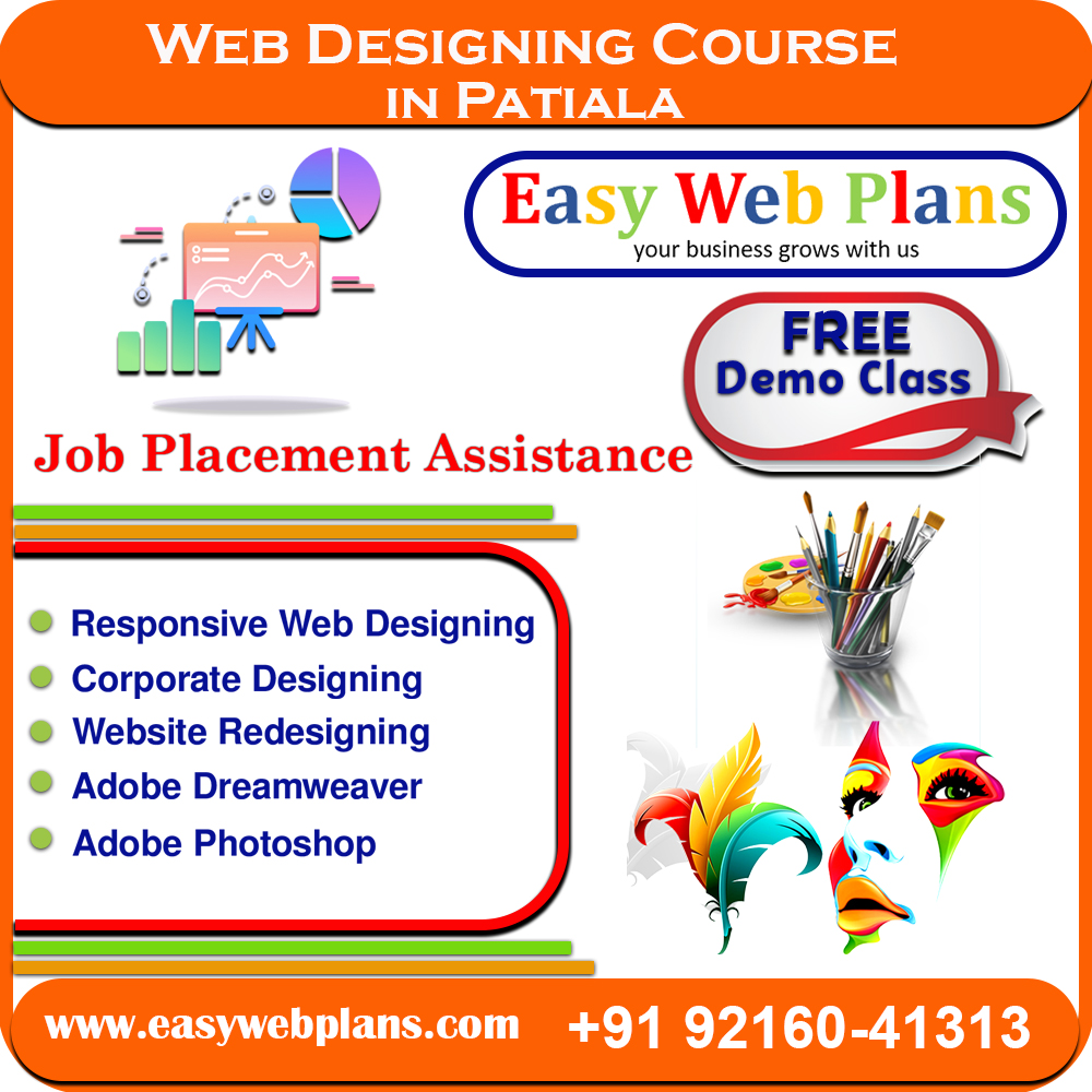 Best Web Designing Course In Patiala Dial 91 9216041313